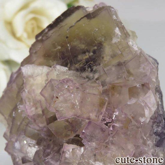 フランス Fontsante Mine産 ライトイエロー×ライトパープルフローライトの原石 No.16の写真4 cute stone