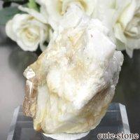 パキスタン Katlang産 オレンジピンクトパーズ (インペリアルトパーズ)の母岩付き原石 No.13の画像