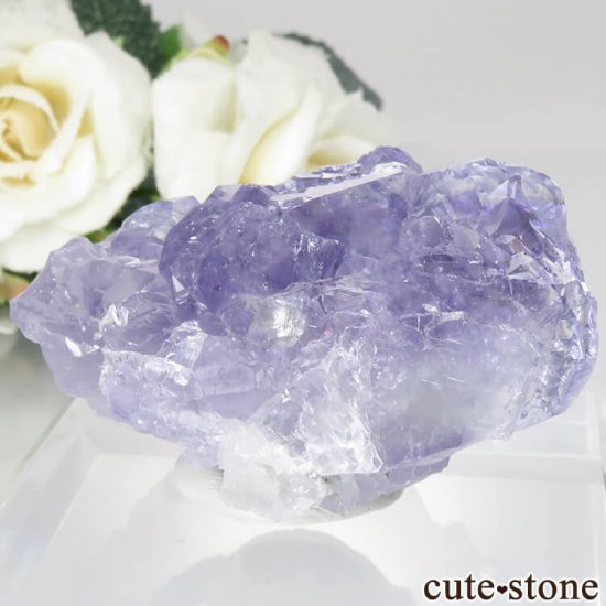 中国 福建省 泉州市産 パープルフローライトの原石 No.34の写真1 cute stone