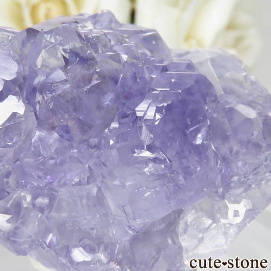 中国 福建省 泉州市産 パープルフローライトの原石 No.34の写真4 cute stone