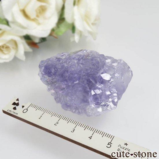 中国 福建省 泉州市産 パープルフローライトの原石 No.34の写真5 cute stone