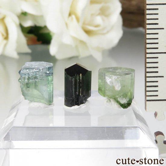 パキスタン Stak Nala産 トルマリンの原石セット No.10の写真0 cute stone