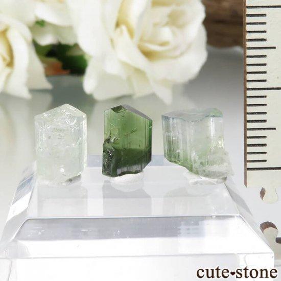 パキスタン Stak Nala産 トルマリン、トルマリン&アルバイトの原石セット No.12の写真0 cute stone