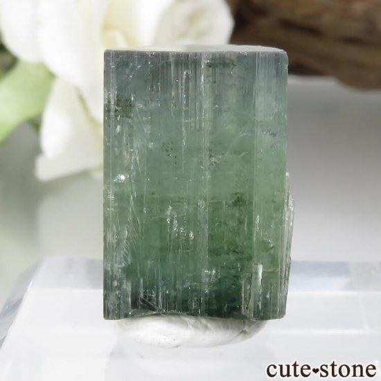 パキスタン Stak Nala産 グリーン〜ブルーグリーントルマリンの結晶 No.16