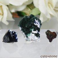 メキシコ Milpillas Mine産 アズライト、マラカイト、イリデッセンスゲーサイトの3点セット No.1の画像