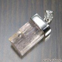 silver925製 ピンクトパーズの原石ペンダントトップ No.1の画像