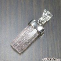 silver925製 ピンクトパーズの原石ペンダントトップ No.4の画像