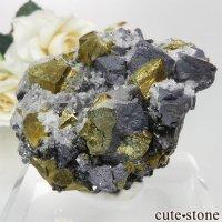 ブルガリア Krushev dol mine産 ガレナ&チャルコパイライト&クォーツの原石 No.2の画像