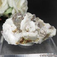 パキスタン シガル産 トパーズ&クォーツの母岩付き原石 No.7の画像