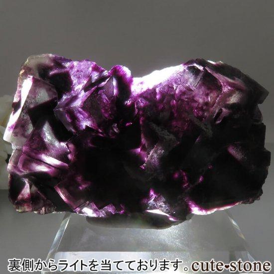 ナミビア Okorusu Mine産 パープルフローライトの原石 No.16