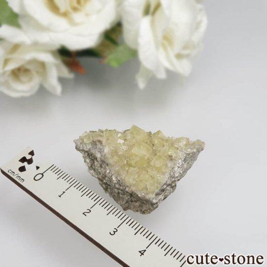 フランス Giromagny産 イエローフローライトの母岩付き原石 No.1の写真1 cute stone
