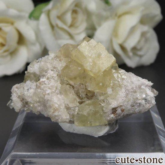 フランス Giromagny産 イエローフローライトの母岩付き原石 No.3