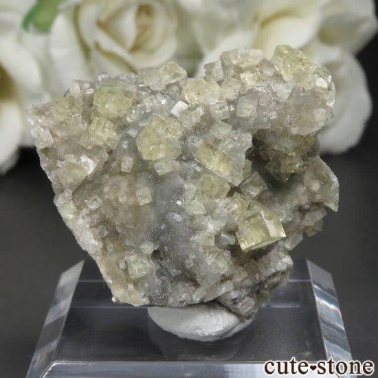 フランス Giromagny産 イエローフローライトの母岩付き原石 No.5