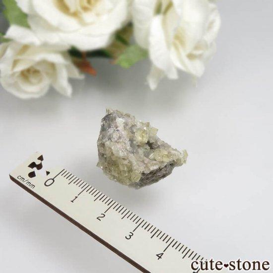 フランス Giromagny産 イエローフローライトの母岩付き原石 No.5の写真1 cute stone