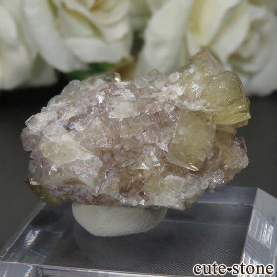 フランス Giromagny産 イエローフローライトの母岩付き原石 No.6の写真0 cute stone