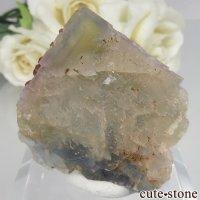 フランス Baerenbach産 イエロー×ブルーフローライト&クォーツの原石 No.1の画像