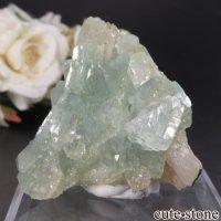 インド アーマドナガー産 イエロー×グリーンアポフィライト&スティルバイトの結晶(原石)No.7の画像