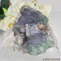 ドイツ Dorfel Quarry産 ブルー×グリーンフローライト&クォーツ No.53の画像
