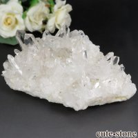 ブラジル ミナスジェライス州 コリント産 水晶(クォーツ)のクラスター(原石) No.6の画像