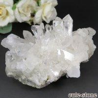 ブラジル ミナスジェライス州 コリント産 水晶(クォーツ)のクラスター(原石) No.7の画像