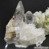 ブラジル ミナスジェライス州 コリント産 水晶(クォーツ)のクラスター(原石) No.10の画像