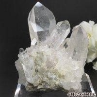 ブラジル ミナスジェライス州 コリント産 水晶(クォーツ)のクラスター(原石) No.11の画像