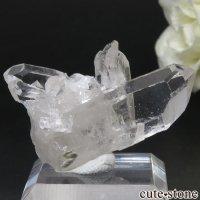 ブラジル ミナスジェライス州 コリント産 水晶(クォーツ)のクラスター(原石) No.14の画像