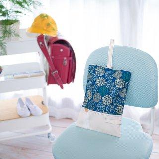 北欧ナチュラル(紫陽花柄)のシューズバッグ(上靴袋)