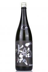 一白水成 純米吟醸 【愛山】黒ラベル 1.8L (いっぱくすいせい)