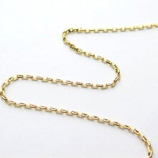 K18イエローゴールド アズキ「小豆」チェーン 60cm 1.5mm