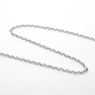 K18ホワイトゴールド アズキ「小豆」チェーン 45cm 1.5mm