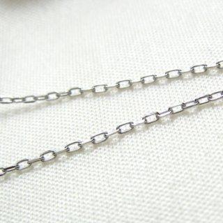 K18ホワイトゴールド アズキ「小豆」チェーン 45cm 1.0mm