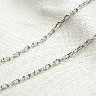 K18ホワイトゴールド アズキ「小豆」チェーン 45cm 1.1mm