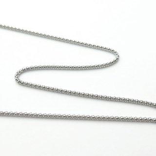 K18ホワイトゴールド カットポンパチェーン 50cm 1.3mm