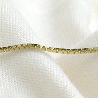 K18イエローゴールド ベネチアンチェーン 40cm 1.0mm