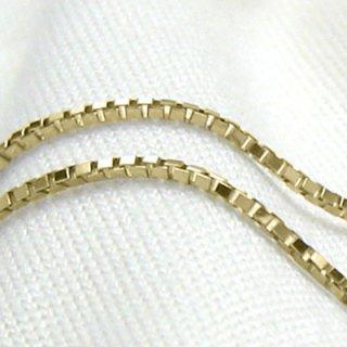 K18イエローゴールド ベネチアンチェーン 45cm 1.0mm