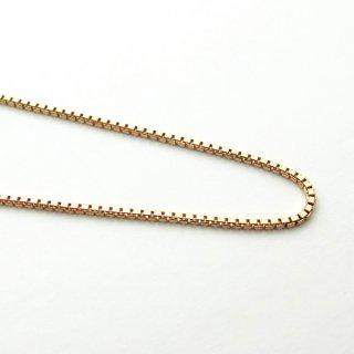 K18ピンクゴールド ベネチアンブレスレット 18cm 1.0mm