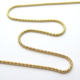 K18イエローゴールド カットポンパチェーン 80cm 1.3mm