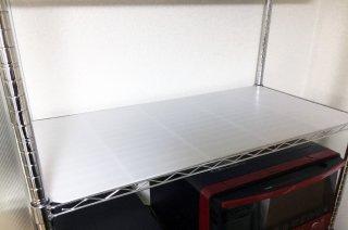 【国産4枚入】ラック 棚板の上に敷くプラダンシート  440mm x 880mm 厚4mm 半透明