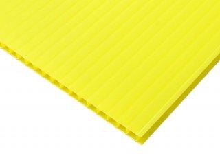 【国産5枚入】プラダンシート 幅900mm ×長1200mm 厚5mm 黄色