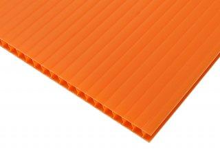 【国産5枚入】プラダンシート 幅900mm ×長1200mm 厚5mm オレンジ