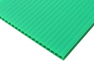 【国産5枚入】プラダンシート 幅900mm ×長1200mm 厚5mm 緑