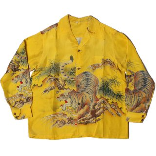 <img class='new_mark_img1' src='https://img.shop-pro.jp/img/new/icons47.gif' style='border:none;display:inline;margin:0px;padding:0px;width:auto;' />1940's Tiger Print Silk Shirt