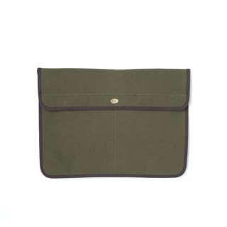 <img class='new_mark_img1' src='https://img.shop-pro.jp/img/new/icons24.gif' style='border:none;display:inline;margin:0px;padding:0px;width:auto;' />Stevenson Overall Co. SCC x SOC Waxed Cotton Clutch Bag - SSC3 Olive