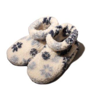 <img class='new_mark_img1' src='https://img.shop-pro.jp/img/new/icons47.gif' style='border:none;display:inline;margin:0px;padding:0px;width:auto;' /> ALWERO Room Shoes -fuji DADO - niebieski sniezki 【正規 アルベロ ルームシューズ フジライン ダド 結晶柄ブルー】