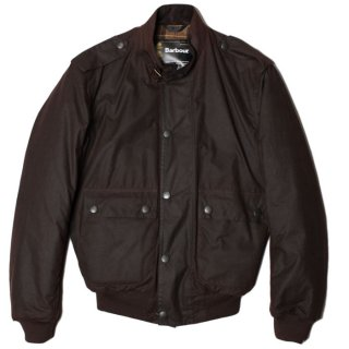 <img class='new_mark_img1' src='https://img.shop-pro.jp/img/new/icons14.gif' style='border:none;display:inline;margin:0px;padding:0px;width:auto;' /> BARBOUR WAX FLYER JACKET RUSTIC (A955)