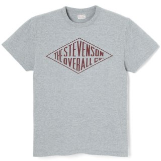 <img class='new_mark_img1' src='https://img.shop-pro.jp/img/new/icons24.gif' style='border:none;display:inline;margin:0px;padding:0px;width:auto;' />STEVENSON OVERALL CO. Graphic T-shirt Daimond (GTDM) Gray