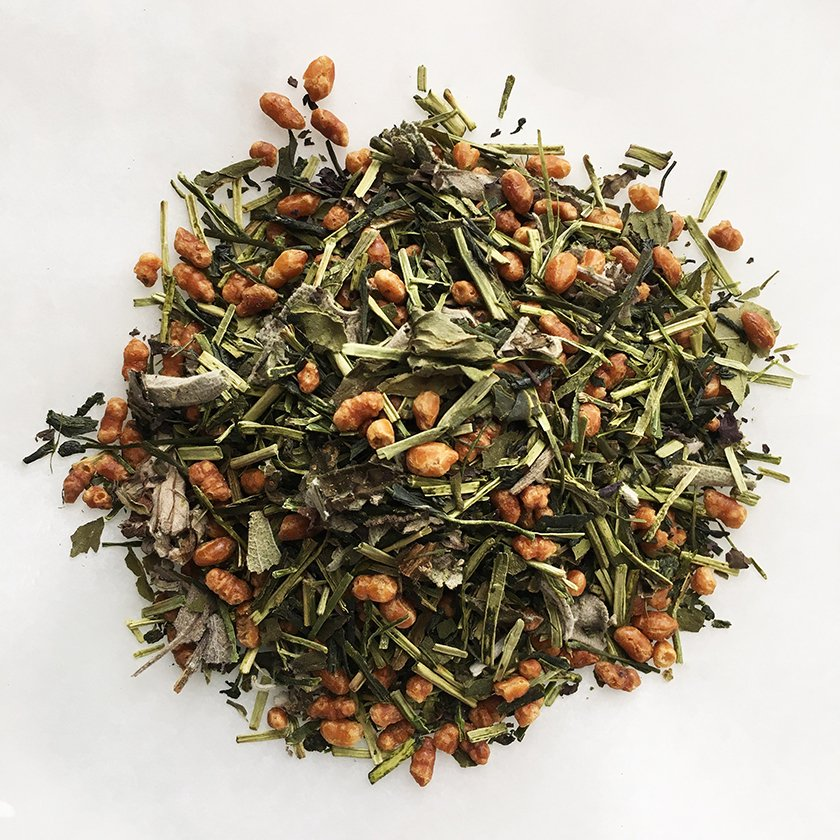 和ハーブ3種とセージ薫る爽やか玄米茶 20g《スープのようなごちそう茶》