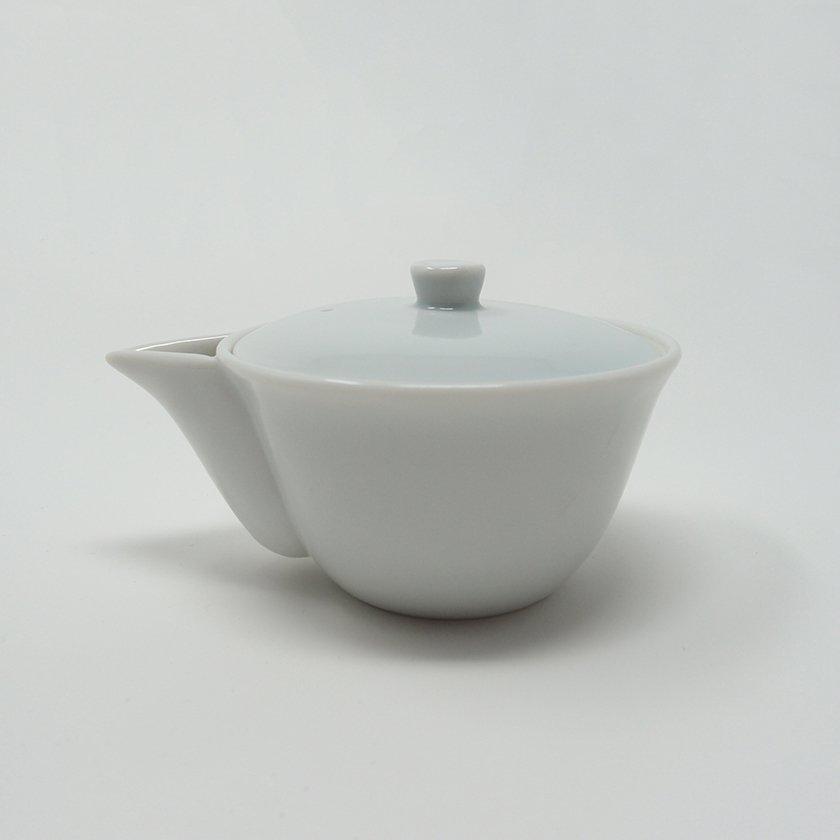お茶屋さんが使う宝瓶(ほうひん)急須 美濃焼 白磁