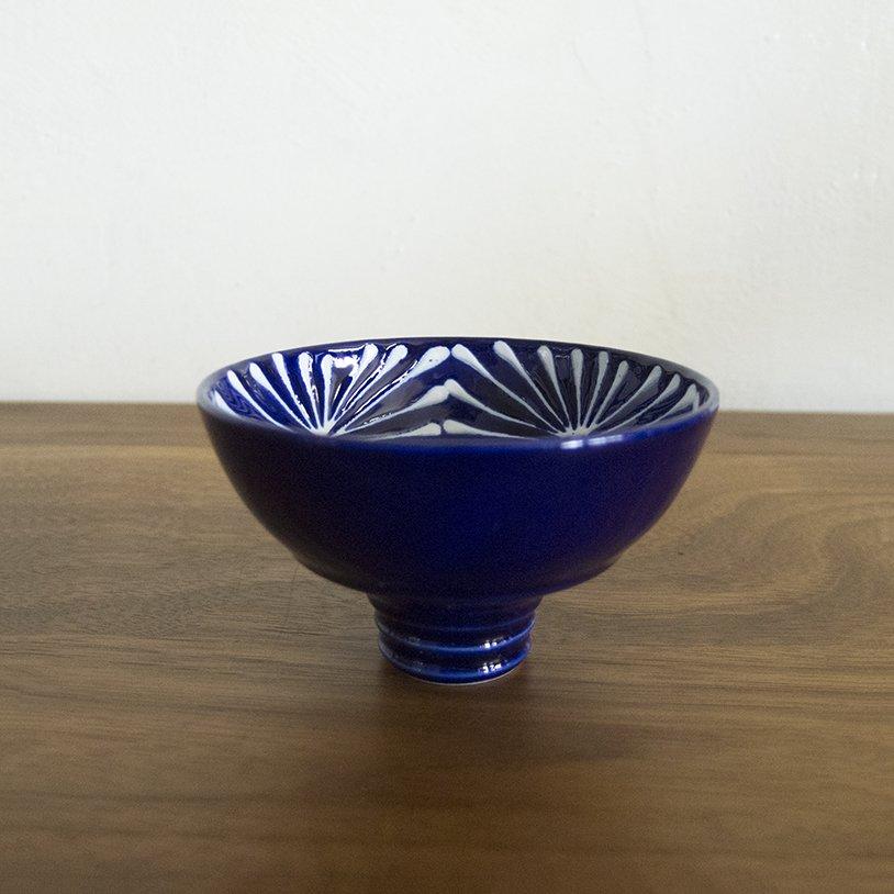 瑠璃 手造り平ぐい 菱格子